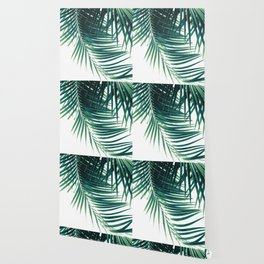 Palm Leaves Green Vibes #4 #tropical #decor #art #society6 Wallpaper