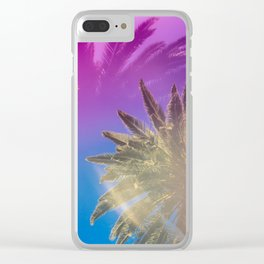 Palm Tree Skyline Clear iPhone Case