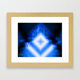 Crystals blues Framed Art Print