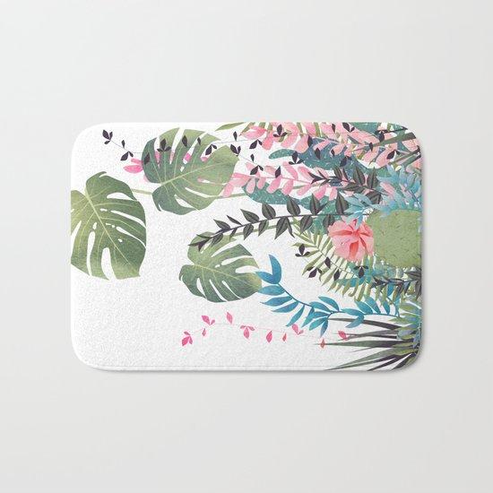 tropical composition Bath Mat