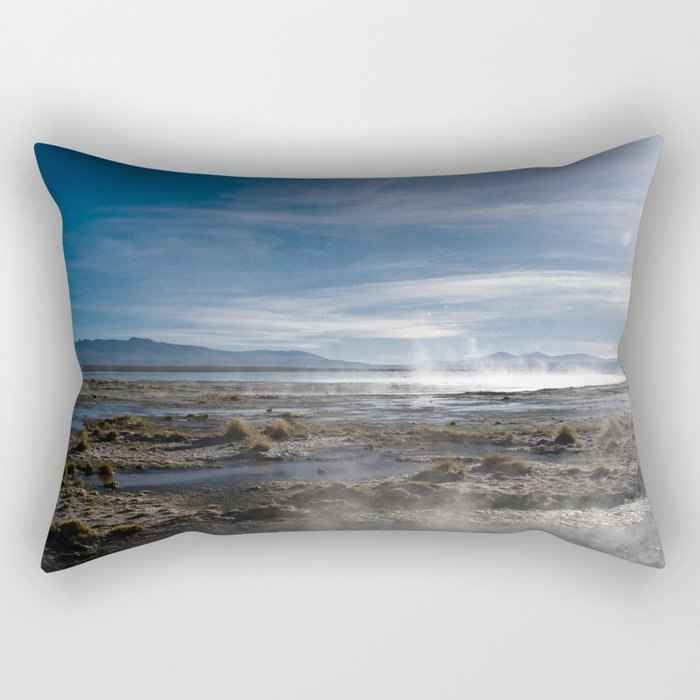Bolivia 3-Geysers Rectangular Pillow