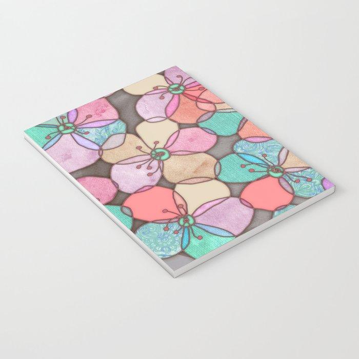 It's Always Summer Somewhere - bright poppy floral Notebook
