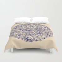 tote Duvet Covers featuring Circle of Friends by micklyn