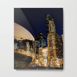 The Chicago Bean #4 Metal Print