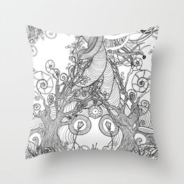 TIME STANDS STILL (pillows and totes) Throw Pillow