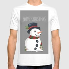 happy christmas Mens Fitted Tee White MEDIUM