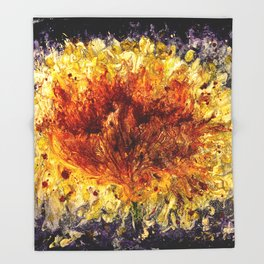 Fire Flower - Vulpecula Throw Blanket