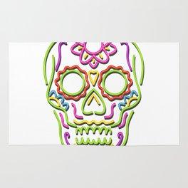 Sugar Skull Neon Sign Rug