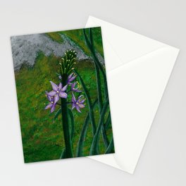 Asparagus Purple Flower painting Stationery Cards