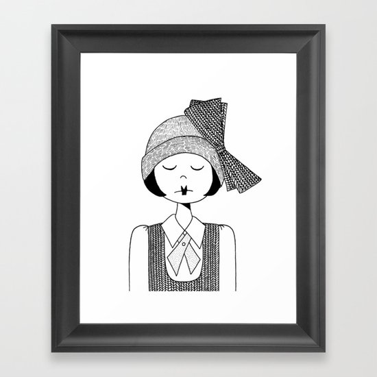 Flapper Girl Framed Art Print
