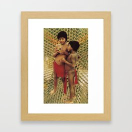 AM I really all the things that are outside of me? Framed Art Print