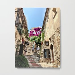 Stone Path in Eze Metal Print