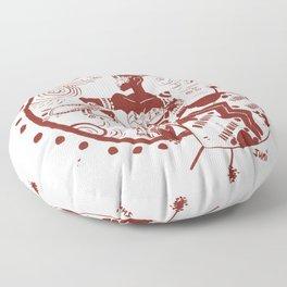 Afr Amazon Fan Art Floor Pillow