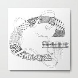 """Zenletter """"G"""" Metal Print"""