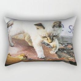 Curious Kitty Rectangular Pillow