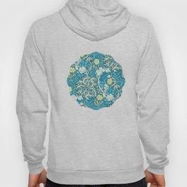 William Morris,art nouveau pattern, seaweed,blue,florals,vintage Hoody