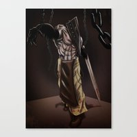 silent hill Canvas Prints featuring Pyramid Head - Silent Hill by JonnyHinkleArt