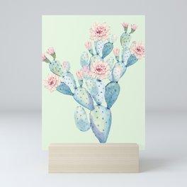 Rose Desert Cactus Mint Green + Pink by Nature Magick Mini Art Print
