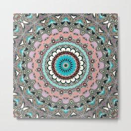 Intricate Layers Mandala Metal Print