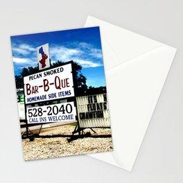 Pecan Smoked BBQ, Louisiana  Stationery Cards