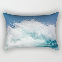 Crashing beautiful waves Rectangular Pillow