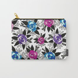 Black Rose Watercolor Carry-All Pouch