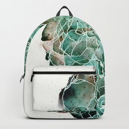 Abstract Watercolor Cloud Painting in Blue, Teal, and Green Backpack