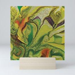 Modern Glittery Green Abstract Art  Mini Art Print