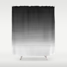 Black and White Haze Abstract Ombre Shower Curtain
