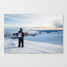 Morning view on Mt Doom Canvas Print