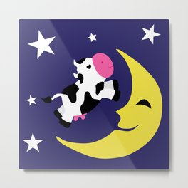 Cow over the moon Metal Print
