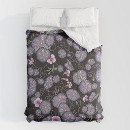 Black Indian cress garden. Comforters