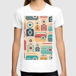 Retro Media Pattern 04 T-shirt