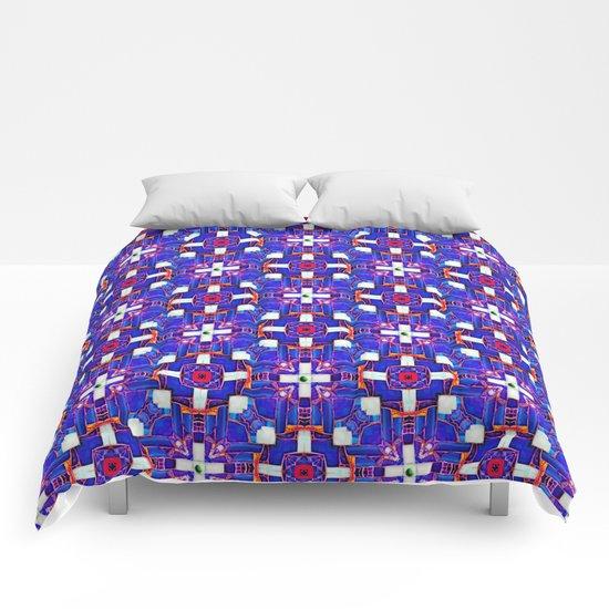 Cobalt Intersect Comforters