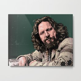 The Dude by STENZSKULL Metal Print