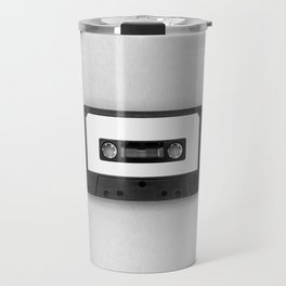 Music Tape (Black and White) Travel Mug
