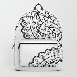 free-hand mandala Backpack