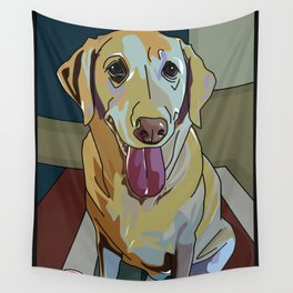 Latte Dog  Wall Tapestry