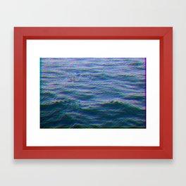 Oceanic Glitches - Dark Horizon Framed Art Print