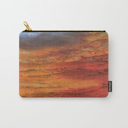 Fiery Red Abstract Carry-All Pouch