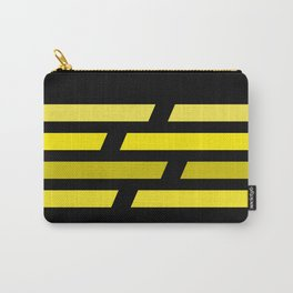 Yellow lines on black background Carry-All Pouch