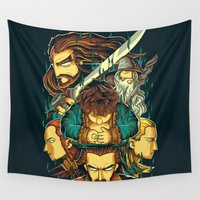 hobbit Wall Tapestries featuring The Hobbit by anggatantama