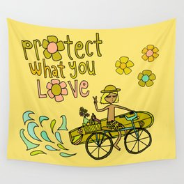 protect what you love Wall Tapestry