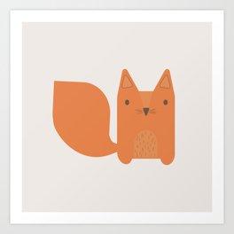 Foxy Friend Art Print