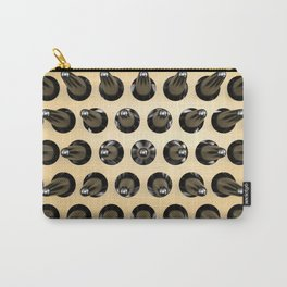 Black On Gold Latex Spikes Carry-All Pouch