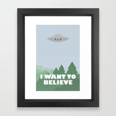 I want to believe jr. Framed Art Print