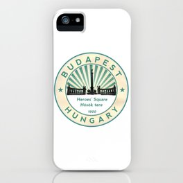 Budapest, Heroes' Square, Hosök tere, Hungary, circle iPhone Case