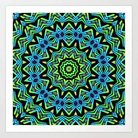 The Tribal Colors Art Print