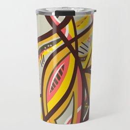 Abstract yellow geometric design Travel Mug