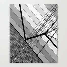 Gray Geometry 2 Canvas Print